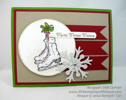 stampin up, dostamping, dawn olchefske, demonstrator, winter memories, christmas, deb currier, snow flurries bigz die