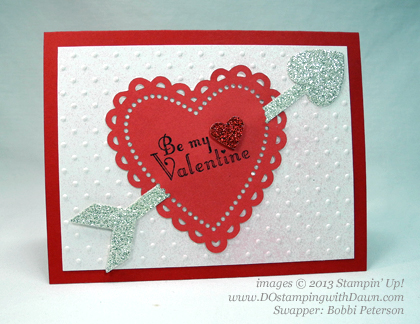 stampin up, dostamping, dawn olchefske, demonstrator, bobbi peterson, delightful dozen, valentine