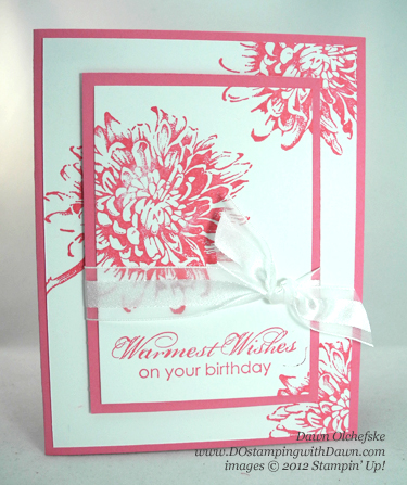 stampin up, demonstrator, dawn olchefske, dostamping, blooming with kindness, floral, double time stamping, quick & cute, QC