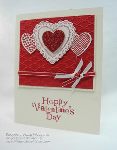 stampin up, dostamping, dawn olchefske, stampin up demonstrator, valentine, spring catalog, hearts a flutter, big shot, framelit, patsy waggoner, wacky wishes