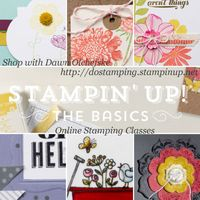 stampin up, dostamping, dawn olchefske, online classes, the basics, rubberstamping