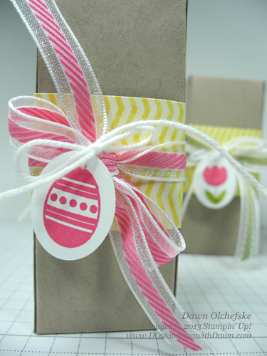 stampin up, dostamping, dawn olchefske, big shot, petite pocket mini box, video, easter, treat