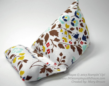 stampinup, dostamping, dawn olchefske, demonstrator, fabric frenzy, Mary Brown, phone holder