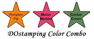 stampin up, dostamping color combo, Pumpkin Pie,  Melon Mambo,  Garden Green, dawn olchefske