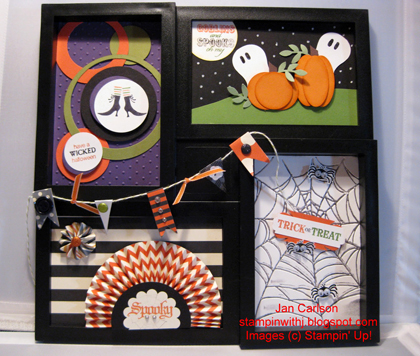 stampin up, dostamping, dawn olchefske, demonstrator, jan carlson, halloween frame art, halloween
