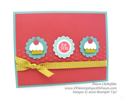 stampin up, dostamping, dawn olchefske, demonstrator, mitten builder punch, mini cupcakes, punch art, birthday