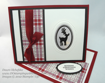 stampin up, dostamping, dawn olchefske, demonstrator, window easel card with tea light, joyous celebrations, christmas