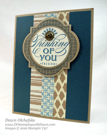 stampin up, dostamping, dawn olchefske, demonstrator, just thinking, window frames collection framelits, parkers pattern dsp