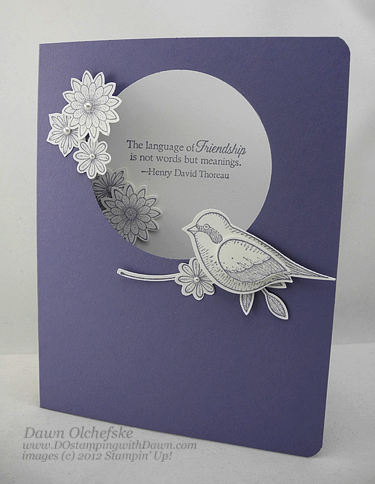 stampin up, dostamping, dawn olchefske, demonstrator, language of friendship, bird builder punch