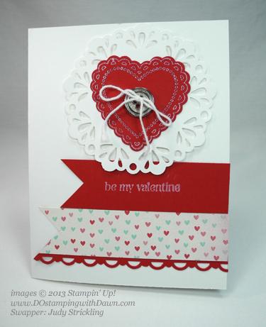 stampin up, dostamping, dawn olchefske, demonstrator, judy strickling, hearts a flutter, valentine