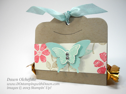Bloomin' Marvelous,SAB Sale-a-Bration, Dawn Olchefske, Stampin' Up! Demonstrator, DOstamping, Spring, Two Tags Die, Packaging, Butterfly