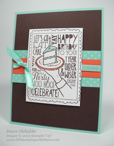 stampin up, dawn olchefske, dostamping, demonstrator, woo hoo single stamp, birthday