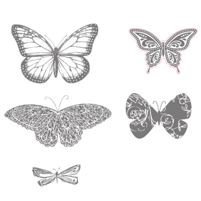 stampin up, dostamping, dawn olchefske, best of 25, butterflies