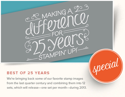 stampinup, dostamping, dawn olchefske, Best of 25 Years