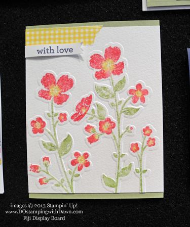 stampin up, dostamping, dawn olchefske, Gingham Garden, Fiji display board