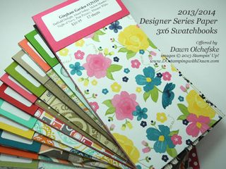 stampin up, dostamping, dawn olchefske, product shares, DSP Swatchbooks