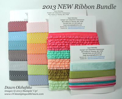 stampin up, dostamping, dawn olchefske, ribbon shares, 2013-New-Ribbon-Bundle