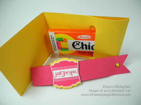 stampin up, dostamping, dawn olchefske, Chiclets Treat Pouch, video, candy, DIY, Kids