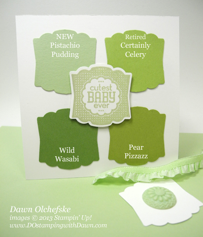 stampin up, dostamping, dawn olchefske, demonstrator, 2013 In Color, Pistachio Pudding