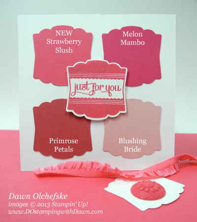 stampin up, dostamping, dawn olchefske, demonstrator, 2013 In Color, Strawberry Slush