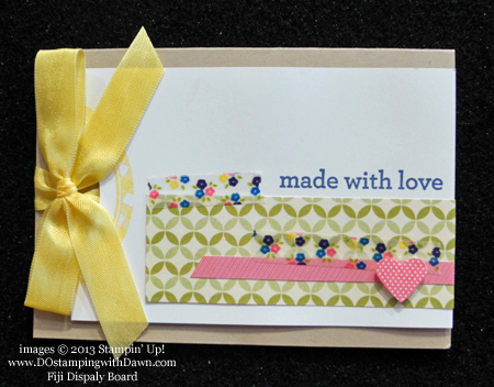 dawn olchefske, dostamping, Fiji display board, Gingham Garden, stampin up