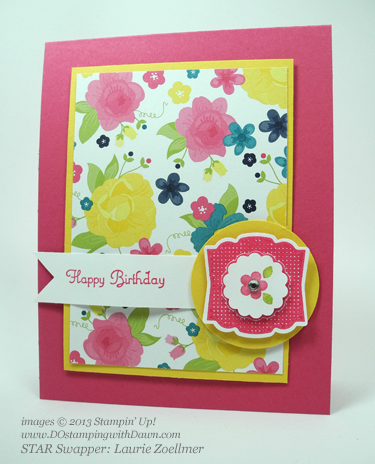 stampin up, dostamping, gingham garden, label love, create a cupcake, laurie zoellmer, dostamperstars
