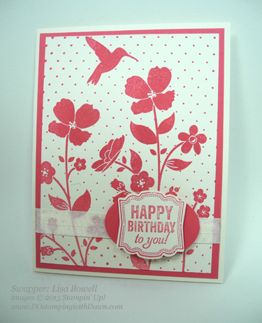 stampin up, dostamping, wildflower meadow bundle, lisa bowell