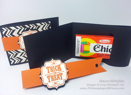 stampin up, dostamping, dawn olchefske, backyard basics, Tags 4 You Bundle (save 15%), 2103 Holiday Catalog, July 2013 Control Freaks Blog Tour, Halloween Chicklets Treat Holder