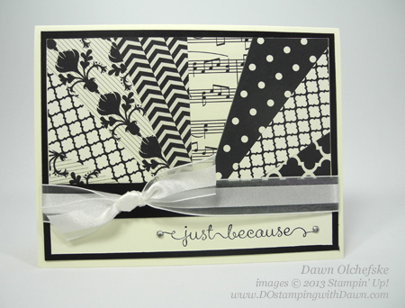 stampin up, dawn olchefske, dostamping, starburst, sunburst, card making, technique, video, Modern Medley
