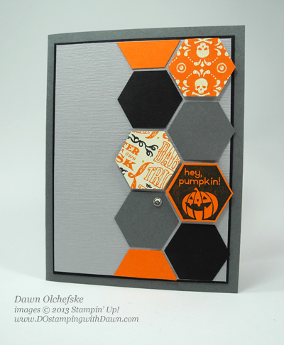 stampin up, dostamping, dawn olchefske, witches' brew DSP, hexagon punch, perfectly you hostess, halloween, 2013 holiday catalog