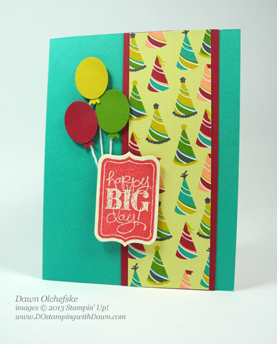 stampin up, dostamping, dawn olchefske, pop up card, video, birthday, chalk talk bundle - save 15%