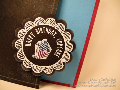 stampin up, dostamping, dawn olchefske, sketched birthday, 2013/2014 Stampin' Up! catalog, chalkboard technique