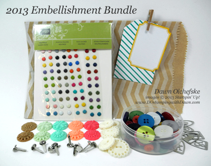 stampin up, dostamping, dawn olchefske, product shares, 2013-Embellishment-Bundle