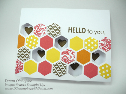 stampin up, dostamping, dawn olchefske, demonstrator, hello to you, paper pumpkin, kissing technique, video