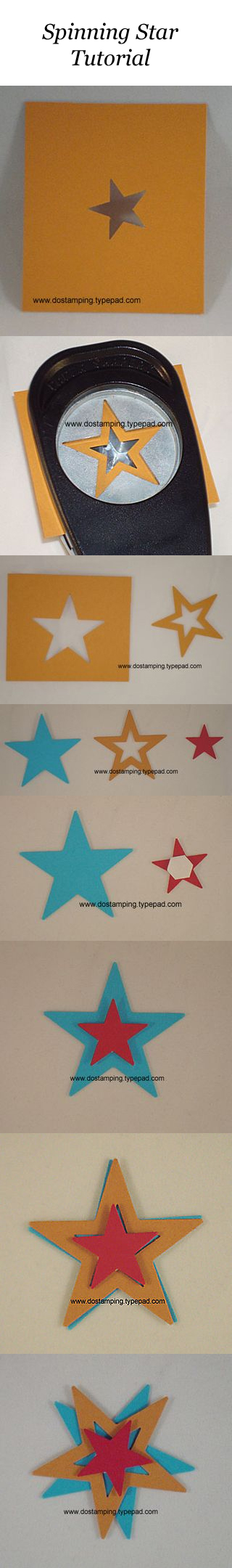 dawn olchefske, dostamping, spinning star tutorial, stampin up