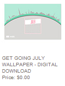 July digital desktop wallpaper, stampin up, FREE