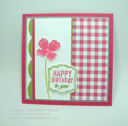 stampin up, dostamping, wildflower meadow bundle, control freak, mary beth brown