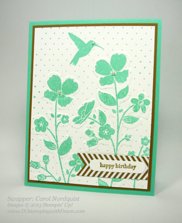 stampin up, dostamping, wildflower meadow bundle, 2013-2014 in color, carol nordquist