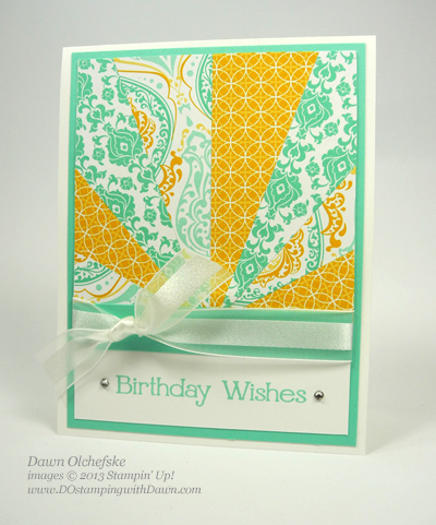 Eastern Elegance, starburst  technique, stampin up, dostamping, dawn olchefske, diy, video