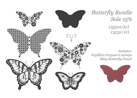 stampin up, dostamping, dawn olchefske,  Early September Special, Butterfly Bundle, Bitty Butterfly Punch, Papillion Potpourri, 15% off