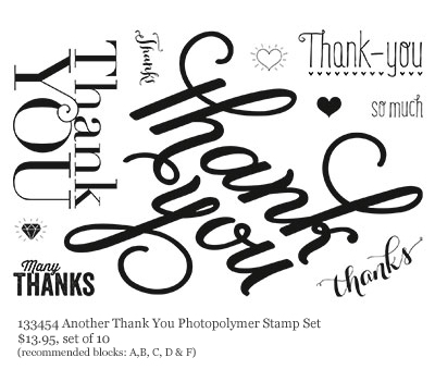 Another Thank You Photopolymer stamp, stampin up