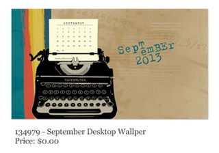 Stampin' Up!, FREE Desktop Calendar-September, MDS, Digital Download