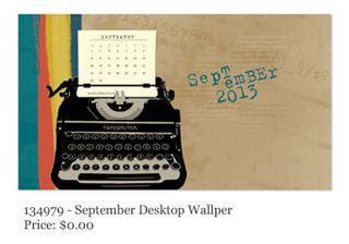 Stampin' Up!, FREE Desktop Calendar-September, MDS, Digital Download