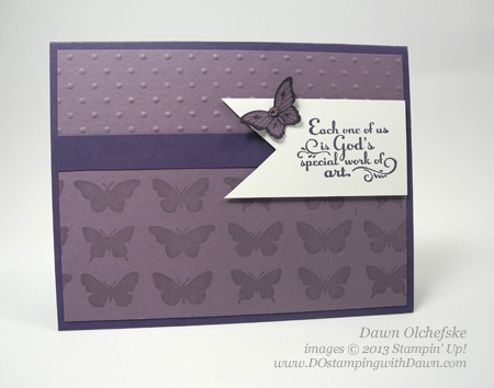 #quickandcute card using Papillion Potpourri, Bitty Butterfly, Butterfly Bundle, Trust God, share by DOstamping, Dawn Olchefske, Stampin' Up! demonstrator