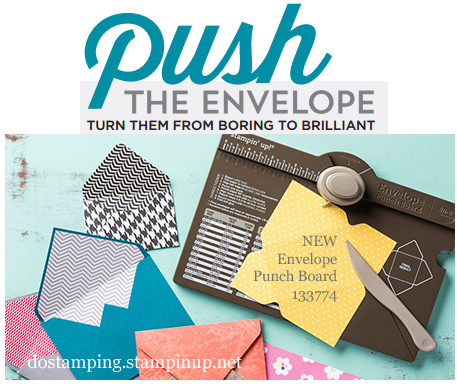 envelope punch board, stampin up, dostamping, dawn olchefske, video