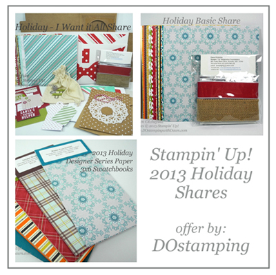 dostamping, dawn olchefske, stampin up, 2013 holiday catalog, holiday product shares