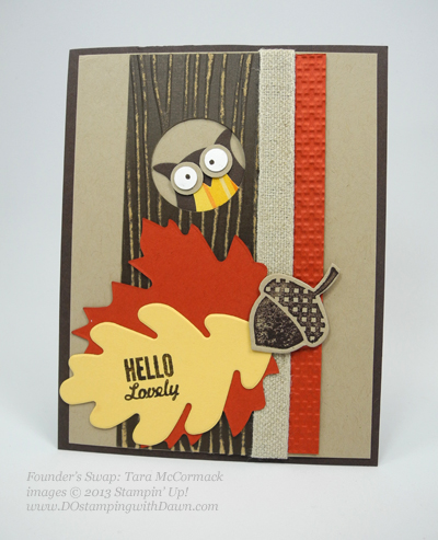 dostamping, stampin up, dawn olchefske, Owl Builder Punch, founder's circle