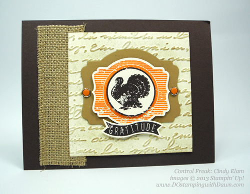 dostamping, stampin up, dawn olchefske,  fall themed swaps, Harvest of Thanks, founder's circle