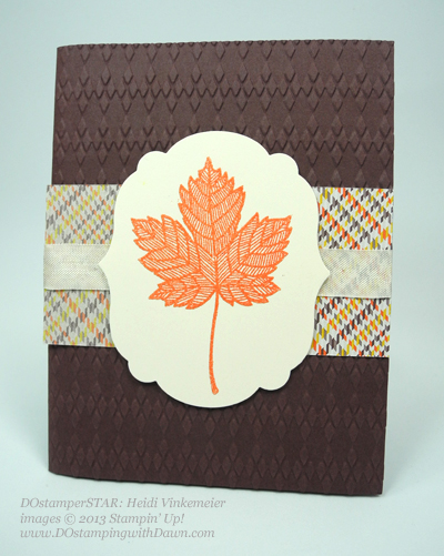 stampin up, Heidi V, fall themed swaps, Magnificent Maple, DOstamperSTARs
