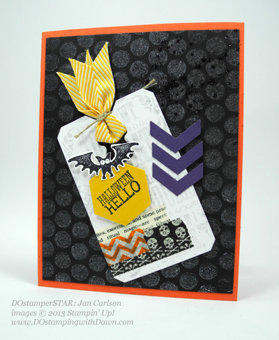 DOstamping, Dawn Olchefske, Stampin' Up! Halloween Hello with Bubble Wrap stamping, DOstamperSTAR Jan Carlson